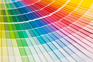 Colour swatches book. Rainbow sample colors catalogue - 9 common painting mistakes