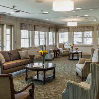 harmony place sunroom area at DePaul Healthcare facility