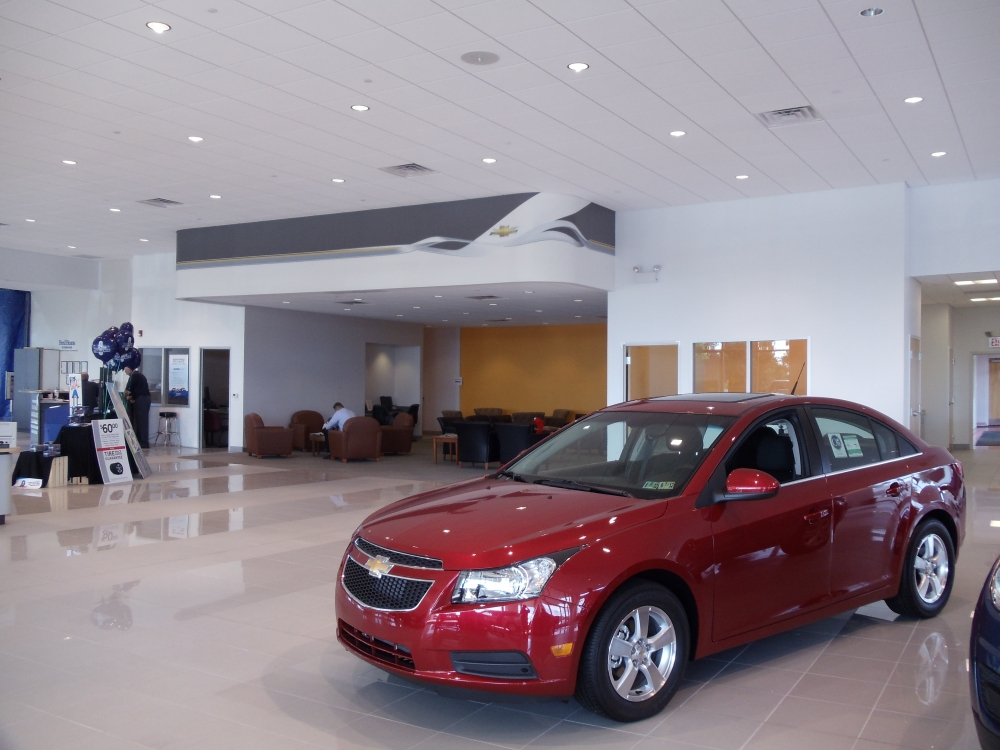 car dealership showroom renovation fred beans chevrolet limerick pa souder brothers construction