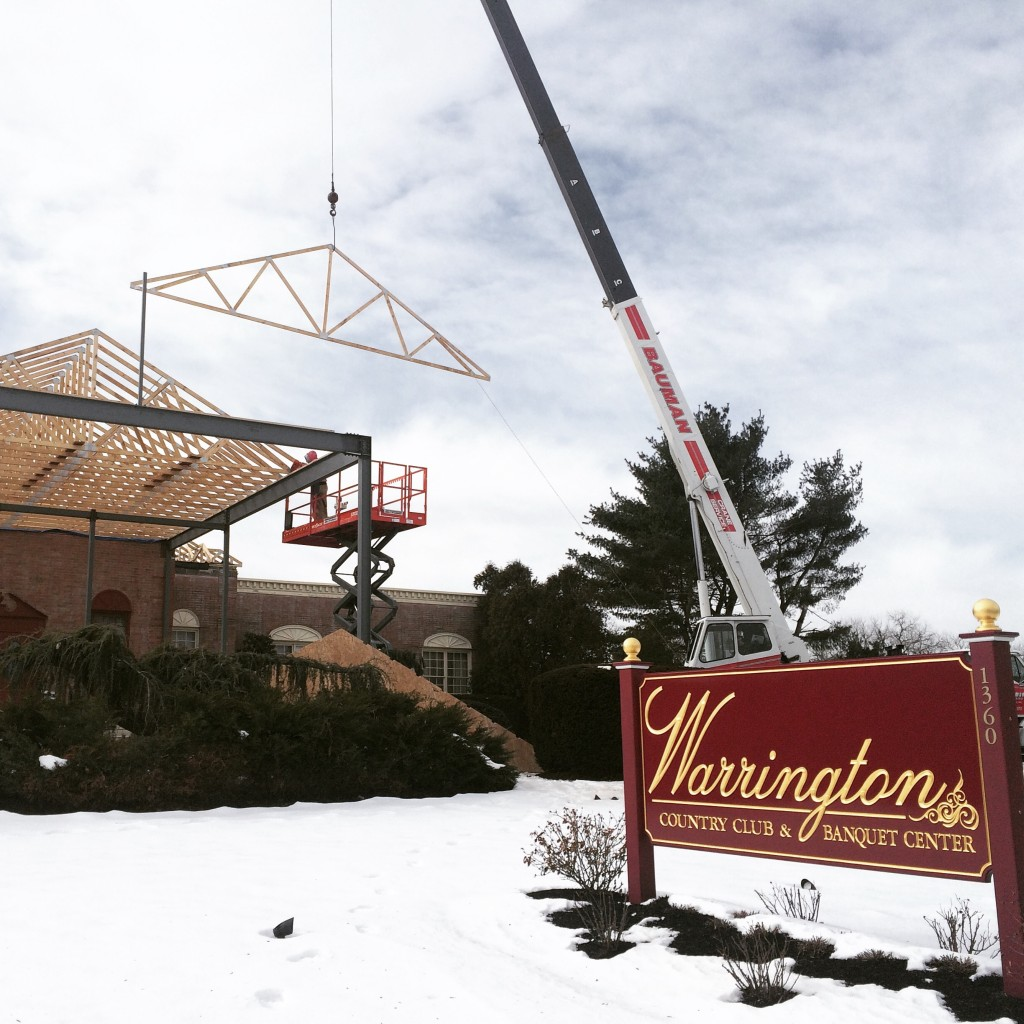 Trusses Being Set - Warrington Country Club