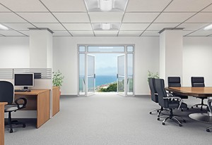 Lithonia 2x2 LED recessed light fixtures are high efficiency and come equipped with long-life LED bulbs