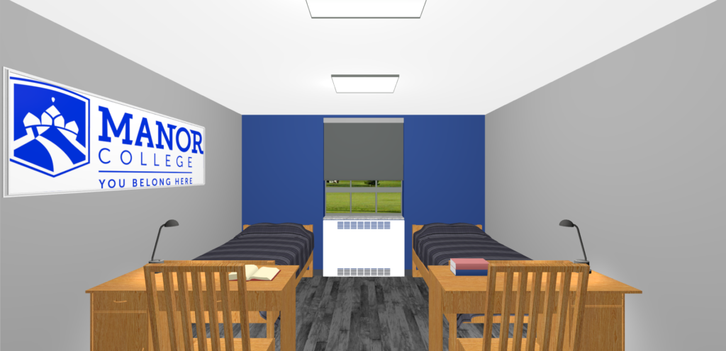 dorm room 3d render
