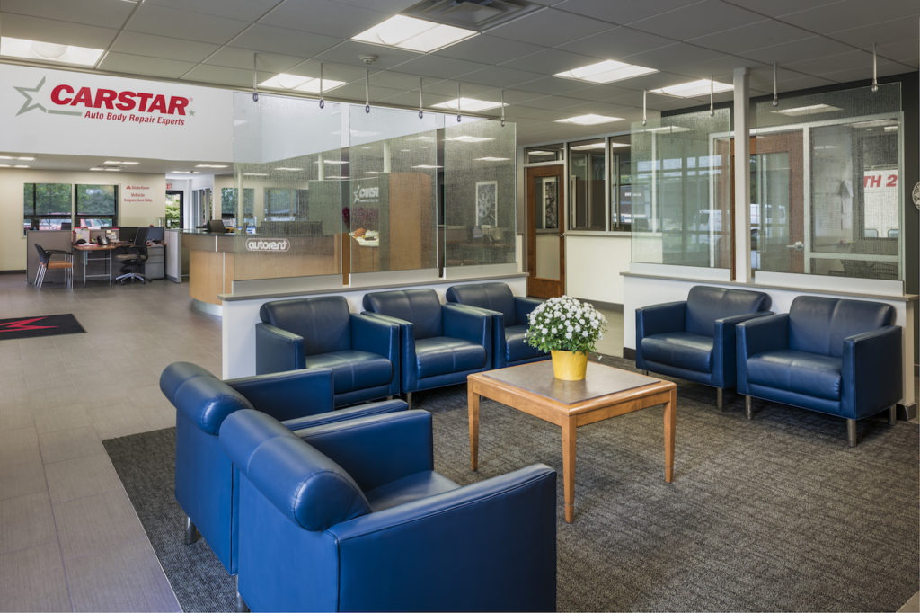 interior of car star dealership