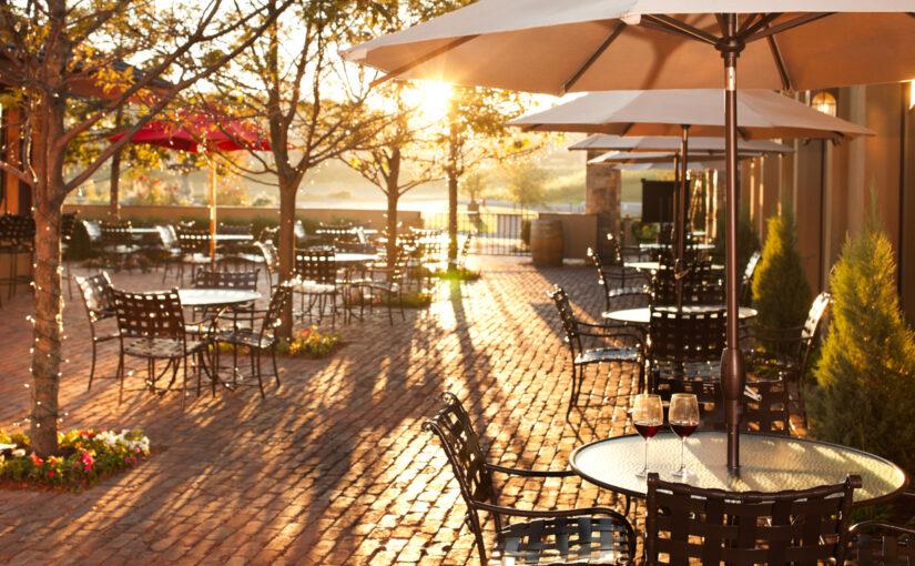 Lovely summer patio setting in restaurant